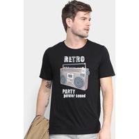 Camiseta Burn Power Sound Masculina - Masculino-Preto