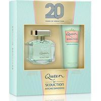 Kit Perfume Feminino Queen Of Seduction Antonio Banderas Eau De Toilette 80Ml + Body Lotion 75Ml - Feminino-Incolor