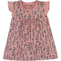 """Vestido """"Floral"""" - Rosa & Azul Claro- Baby - Brabrandili"""