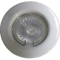 Spot Dicróica Fixo Aço Com Pintura Eletrostática Mr16 50W 127V Branco