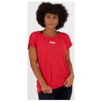 Camiseta Fila Drapped Ii Feminina Vermelha
