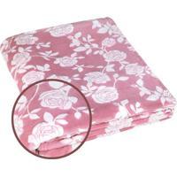 Manta Fleece Arabescos Casal- Rosa & Branca- 210X230Lepper