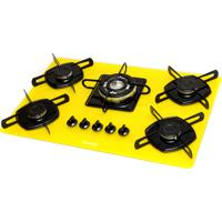 Cooktop 5 Bocas Braslar Ultra Chama Amarelo Bivolt - 10050012