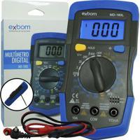 Multímetro Digital Exbom Md-180L Preto/Azul