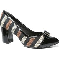Sapato Scarpin Conforto 746009 - Piccadilly (B25) - Listrado Preto
