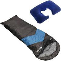 Saco De Dormir Envelope E Sarcófago + Travesseiro De Pescoço Nautika Inflável - Unissex