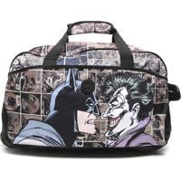 Mala Santino Batman E Coringa Preta/Marrom
