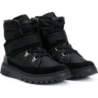 Dolce & Gabbana Kids Ankle Boot Com Logo - Preto