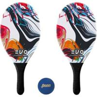 Kit Raquetes Frescobol Evo Fibra Vidro Vector+Bola Penn - Unissex