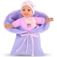 Boneca My First Baby Rosa Com Lilás - Cortex