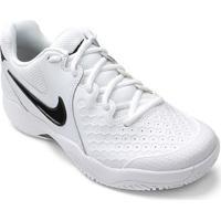 57f2bb27023e1 ... Tênis Nike Air Zoom Couro Resistance Masculino - Masculino-Branco+Preto