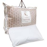 Travesseiro Karsten Casa K Toque De Plumas 50X70Cm Branco