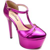 Sapato Meia Pata Zariff Metalizado Salto 15