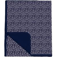 Manta Dupla Face Floral - Azul Marinho & Branca- 3X3Batistela
