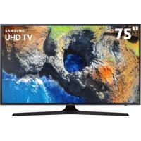 """Smart Tv Led 75"""" Uhd 4K Samsung 75Mu6100 Com Hdr Premium, Plataforma Smart Tizen, Smart View, Espelhamento De Tela, Steam Link, 3 Hdmi E 2 Usb"""