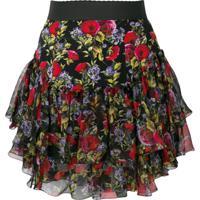 Dolce & Gabbana Saia Floral - Preto