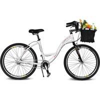 Bicicleta Kyklos Aro 26 Urbis 8.7 V-Brake Nexus Com Cesta Branco