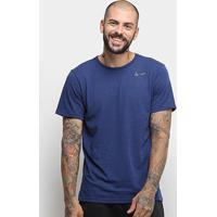 Camiseta Nike Breathe Spring Masculina - Masculino-Marinho+Preto