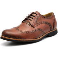 Sapato Social Shoes Grand Europa Caramelo Tamanho Especial
