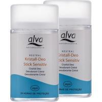 Kit Desodorante Stick Kristall Sensitivo Vegano 120G - Unissex-Incolor