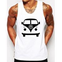 Camiseta Regata Criativa Urbana Kombi Carro Antigo Clássico - Masculino-Branco