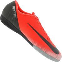 d64a6c642ed97 Chuteira Futsal Nike Mercurial Vapor X 12 Academy Cr7 Ic - Adulto - Vermelho  Preto