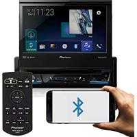 Dvd Player Pioneer Avh-Z7180Tv 1Din Tela Retratil 7 Bluetooth Usb Android Auto Waze Spotify + Controle Remoto