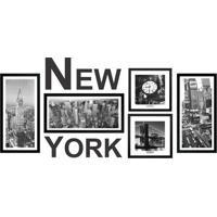Kit De Quadros New York- Preto & Branco- 6Pã§S- Kkapos