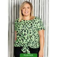 Blusa Com Estampa Animal Print Verde