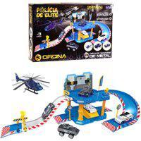Pista De Carrinhos Para Menino - Oficina Polícia De Elite - Unik Toys