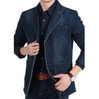 Blazer Jeans Masculino Istanbul - Azul Escuro
