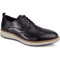 Sapato Social Rafarillo London Couro Cadarço Liso Conforto Marrom 37 Preto