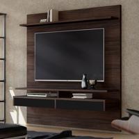 Painel Para Tv Até 65 Polegadas Smart Castanho E Preto 180 Cm