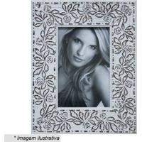 Porta Retrato- Branco & Marrom- Tamanho Da Foto: 10Xkapos