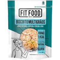 Biscoito Multigrãos Fit Food Arroz Lentilha Ervilha E Chia Com 90G 90G