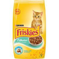 Ração Para Gatos Friskies Filhotes Sabor Frango, Cenoura E Leite Com 1Kg