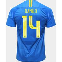 fc74688ef Netshoes  Camisa Seleção Brasil Ii 2018 Nº 14 Danilo - Torcedor Nike  Masculina - Masculino