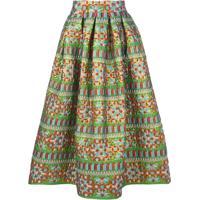 Rianna + Nina Michaela Mix Pattern Skirt - Estampado
