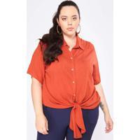 Camisa Almaria Plus Size Garage Viscose Vermelho
