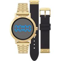 Relógio Digital Euro Fashion Fit Feminino - Feminino-Dourado