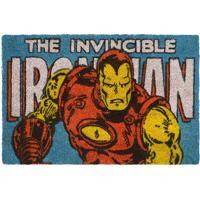 "Capacho Iron Man® ""The Invincible""- Azul & Amarelo- Mabruk"