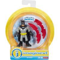 Mini Figura De Ação - Dc Comics - Imaginext - Batman Com Acessórios 15 Cm - Mattel - Masculino-Incolor