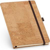 Caderneta Capa Cortiça 9,7X14,5Cm 80 Folhas Sem Pauta