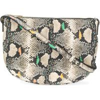 A.P.C. Maelys Snakeskin Crossbody Bag - Neutro