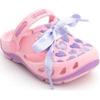 Babuche Infantil Mocs Corações Plugt Feminino - Feminino-Rosa