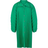Homme Plissé Issey Miyake This Oversized Pleated Coat - Verde