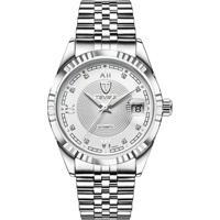 Relógio Tevise T629-003 Masculino Automático Pulseira De Aço - Branco