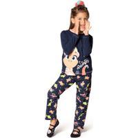 Pijama Manga Longa Dina Teen 8