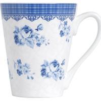 Caneca Em Porcelana Azul Slim Grecia 2166 Lyor Classic