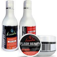 Kit Hidratação Shampoo 300Ml + Condicionador 300Ml + Máscara 300G Louhi - Unissex-Incolor